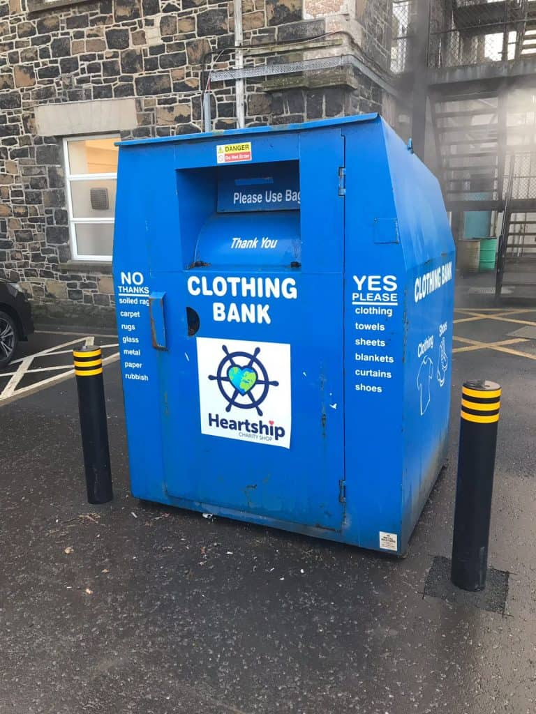 Textile Recycling bank Ballymena