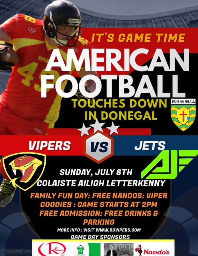 CRI proud to Sponsor Donegal Derry Vipers American Football in Colaiste Ailigh
